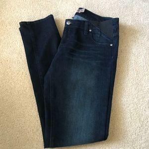 Paige Maternity Skinny Jeans in Dark Wash